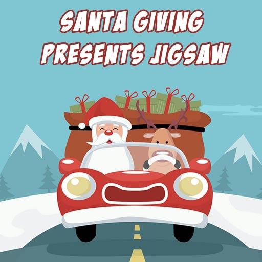 Santa Giving Presents Jigsaw